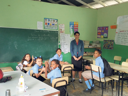 Young people's mission to help  children in Dominican Republic