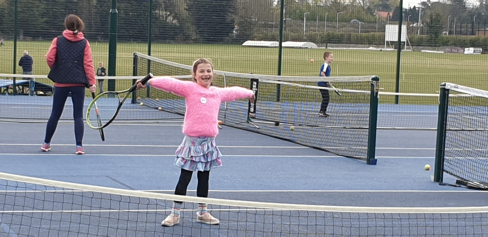 Families find out about sports in Frenchay
