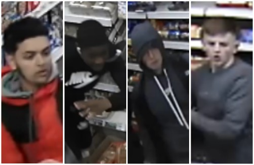 Police want to trace these youths after teenager glassed over head during Eastville mugging