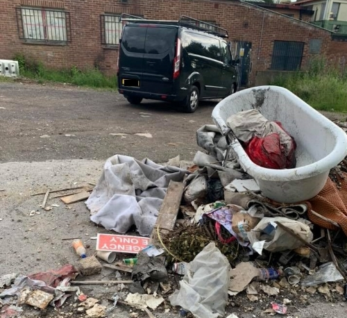 Investigation launched after rubbish dumped outside community centre