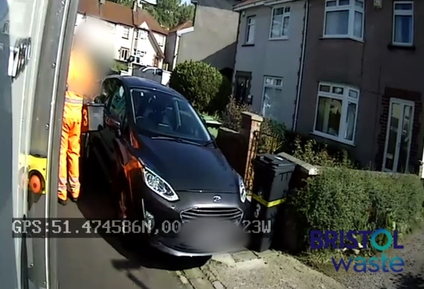 Video reveals 'appalling' driving by motorists passing Bristol bin lorries