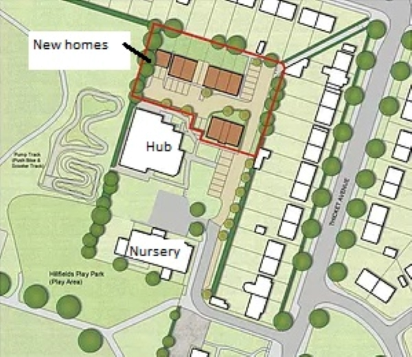 The new homes planned at Hillfields Community Hub