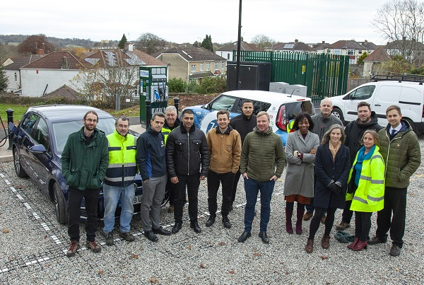Electric car charging hub opens in Eastville Park