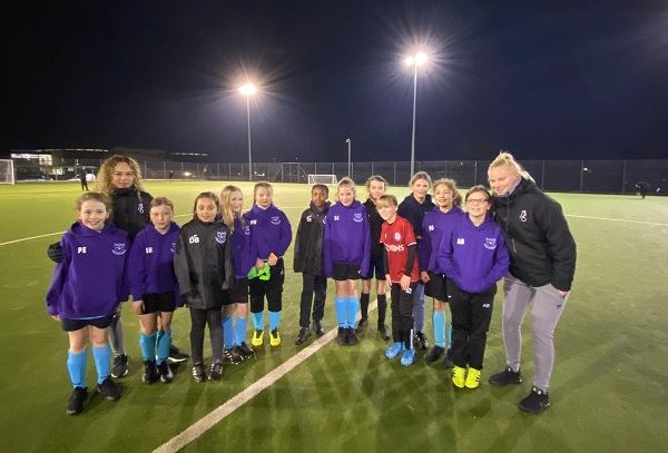 City stars inspire next generation of female footballers