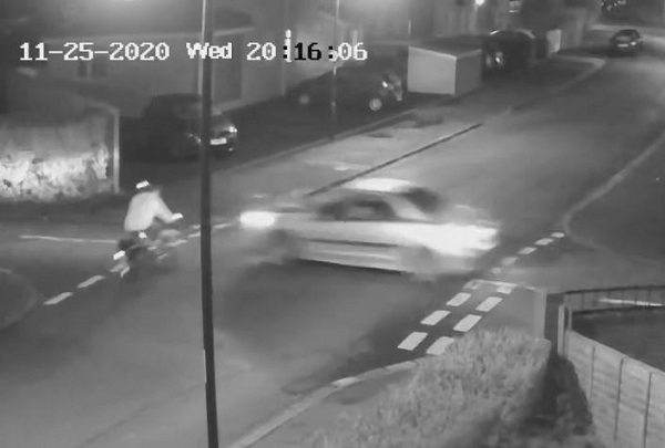 Hit-and-run driver left cyclist injured in the street