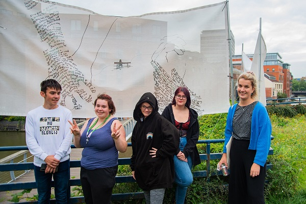 Young Hillfields artists' work showcased in city centre