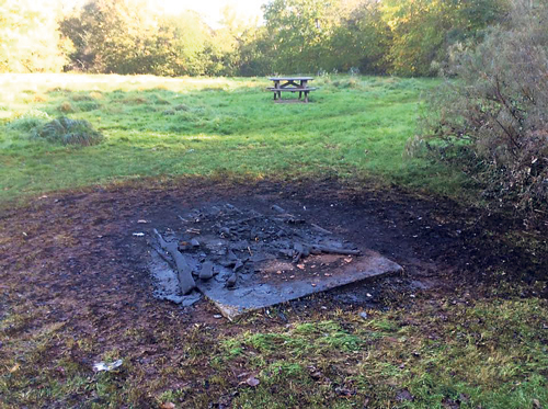 Picnic bench destroyed in 'mindless' attack