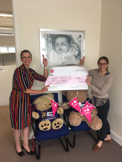 Jessie May charity wins Lottery grant