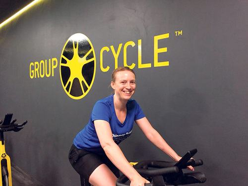 Louise takes on cycling challenge