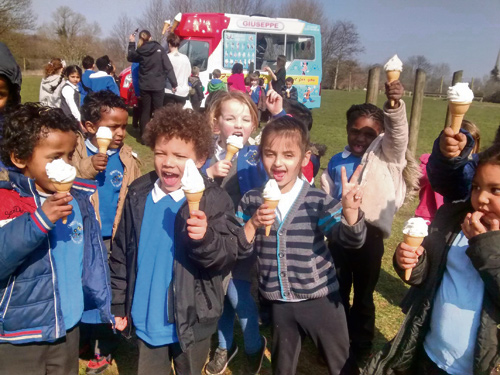 GLENFROME Primary in Eastville is one of Bristol's healthiest schools – but it had good reason to allow its children (and teachers) an ice cream treat.
